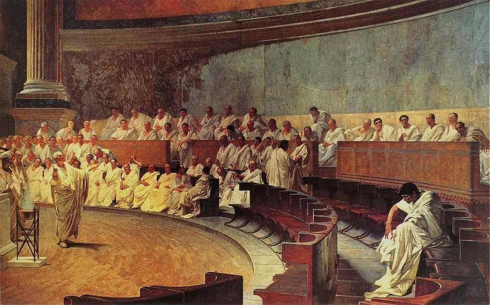 Цицерон обличает Катилину